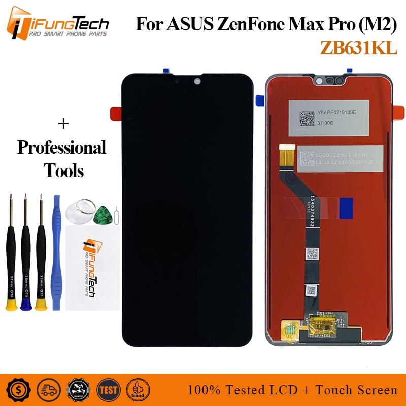 LCD Original para Asus Zenfone Max Pro M2 pantalla LCD de pantalla táctil digitalizador asamblea para ZB630KL/ZB631KL LCD reemplazar