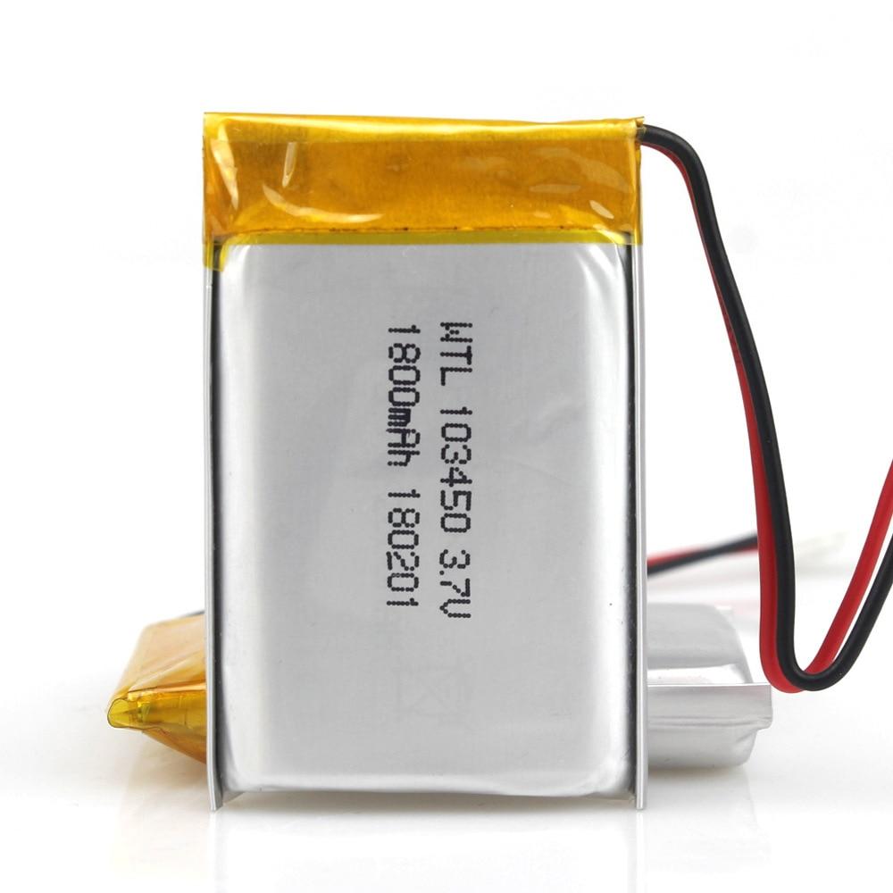 GTF 3,7 V 1800mAh батарея литий-полимерная LiPo перезаряжаемые батареи 103450 для Mp3 GPS PSP телефон банк питания электронная батарея