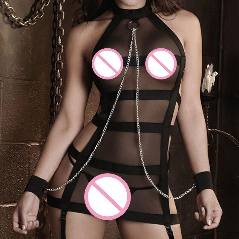 2018 новое женское сексуальное нижнее белье горячее порно кружевное наручное женское белье в стиле «Baby Doll» Сексуальные костюмы сережки в комплекте секс-товары Экзотическая одежда