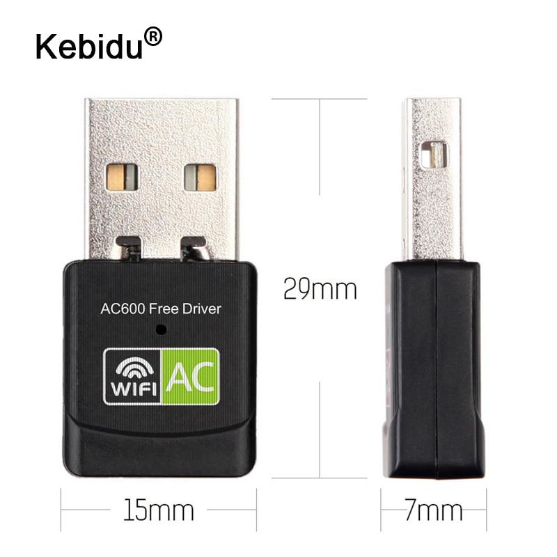 Kebidu 600 Мбит/с USB WiFi адаптер 2,4 ГГц 5 ГГц WiFi антенна двухдиапазонный 802.11b/n/g/ac мини беспроводной компьютер сетевая карта приемник