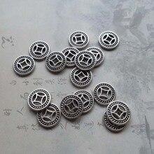 50 pcs/lot Vintage roue conception métal connecteur perles 10mm rond fait à la main artisanat entretoise perles femmes bijoux faisant des Bracelets