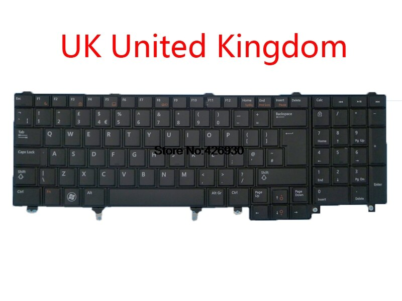 Portátil Reino Unido GR nos RU JP teclado para DELL E5520 E5520M E5530 E6520 E6530 M6700 M6600 M4800 M4700 M4600 02PJKW alemán inglés