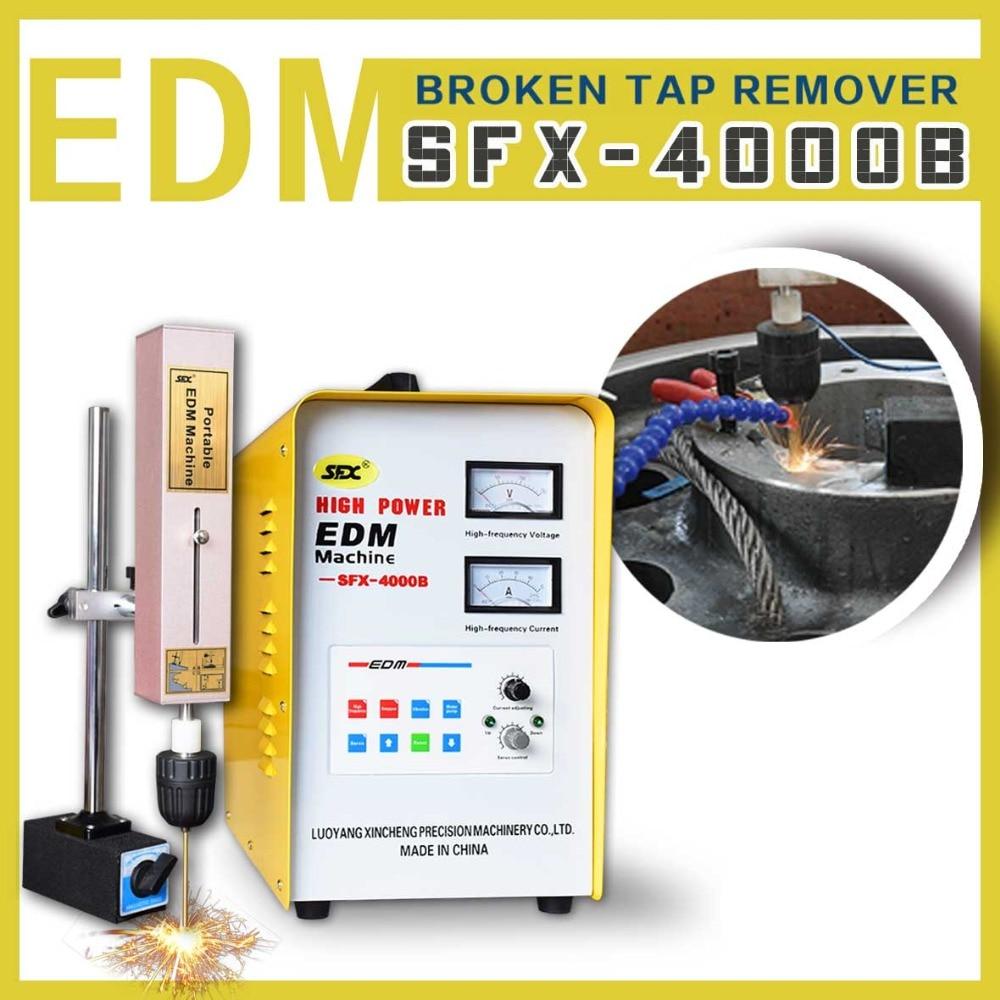 Tap burner edm roscado tap removedor portátil EDM máquina