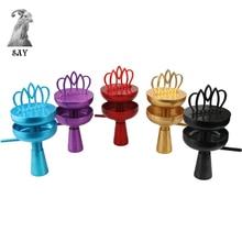 SY 1 Set High Quality Crown Shisha Hookah Head Bowl Charcoal Holder Burner Chicha Smoking Accessories Colorful