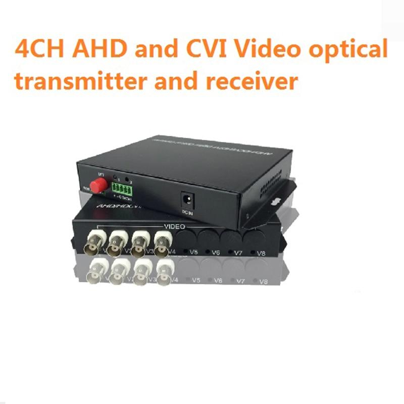 Digital video optical 2-8 channel AHD DVI CVI Video Converter FC 20km fiber reverse RS485 data enlarge