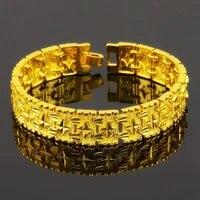 finework bracelet yellow gold filled womens mens bracelet chain link