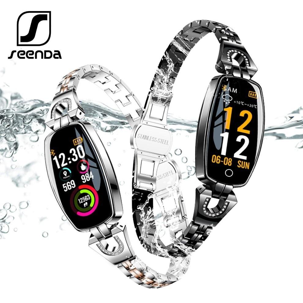 SeenDa 0,96 zoll Wasserdichte Frauen Smart Uhr Herz Rate Monitor Smart Armband blutdruck Monitor Smartwatch Geschenk für Dame