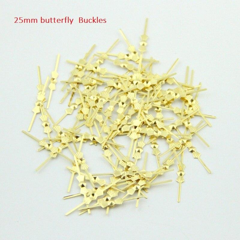 Besten Preis Kristall 10000 stücke 25mm Metall Buttefly Schnalle Für Kristall Kronleuchter Zubehör Beleuchtung Metallstecker Kostenloser Versand
