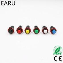 Interrupteur électrique auto-retour automatique 10mm   6 pièces, bouton-poussoir momentané, blanc, noir, bleu, rouge, jaune, vert, sonnette de porte