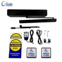 Olide Schwarz Farbe Niedrigen Energie Handicap Auto Türöffner mit Wired Handicap Push Tasten