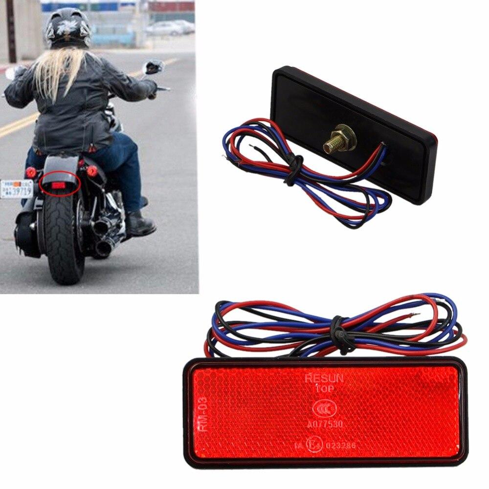 Quente Refletor LED Traseira Da Cauda Brake Parar Marcador Luz Reboque DO Caminhão DO CARRO Da Motocicleta