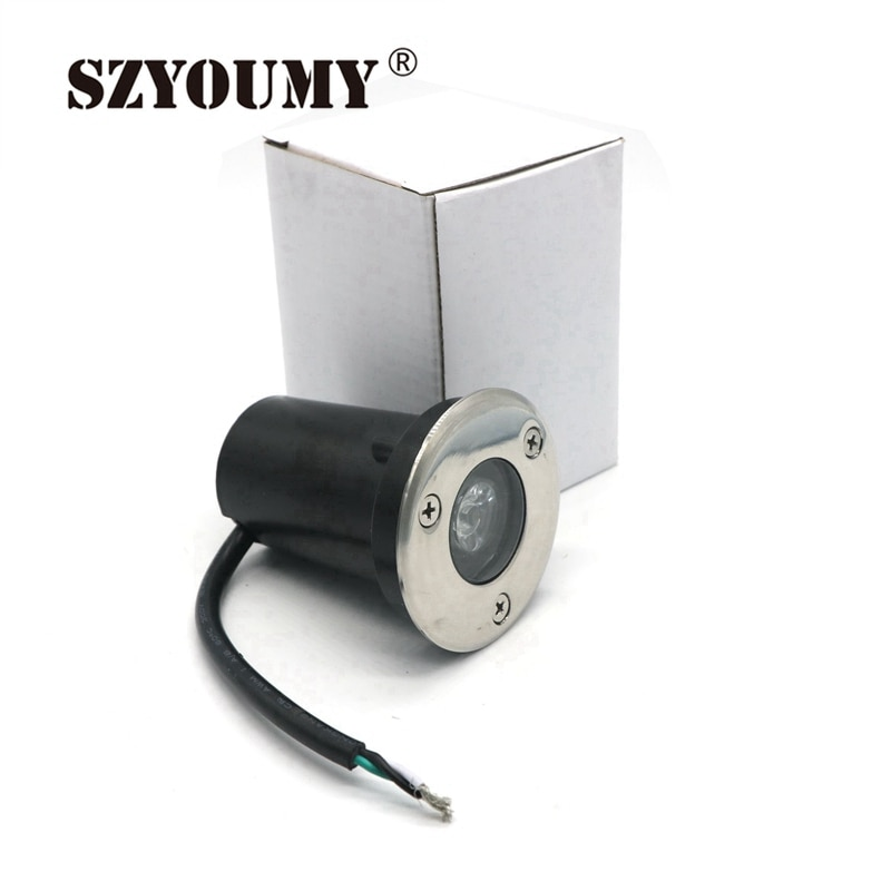 szyoumy conduziu a luz subterranea 1 w ip67 a prova d agua 110 240 v conves inground
