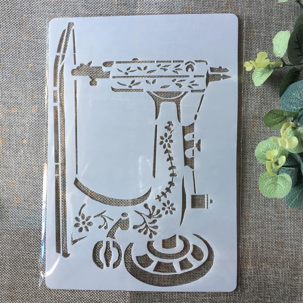 А4 швейная машина DIY Layering трафареты живопись раскраска для скрапбукинга рельефная декоративная альбомная бумага шаблон карты