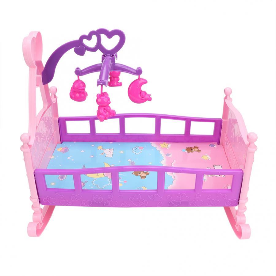 Muebles para casa de muñecas, cama de princesa de gran realismo, mueble de cama para muñecas, juguetes para jugar a las casitas, accesorios