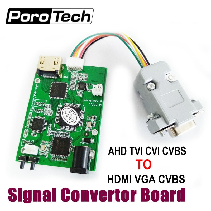 Wholesale 10pcs/lot Video Signal Convertor Board, AHD TVI CVI CVBS signal to HDMI VGA CVBS signal convertor board support OEM