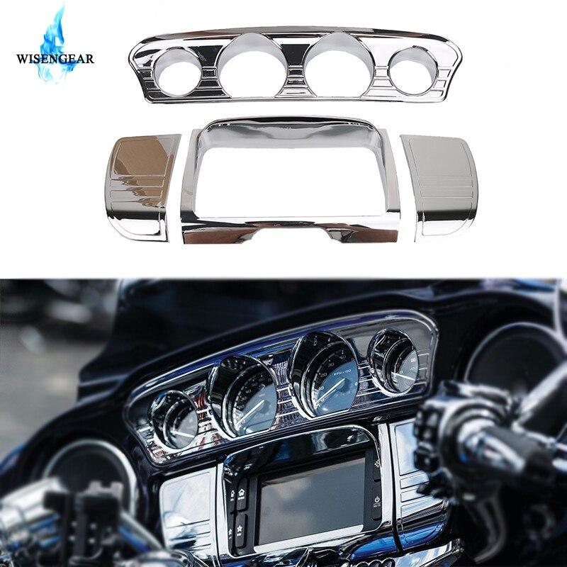 Revêtement stéréo Chrome de luxe pour moto   Pour Harley Touring Electra glisse FLHX CVO Special FLHXS 2014 2015 2016 2017