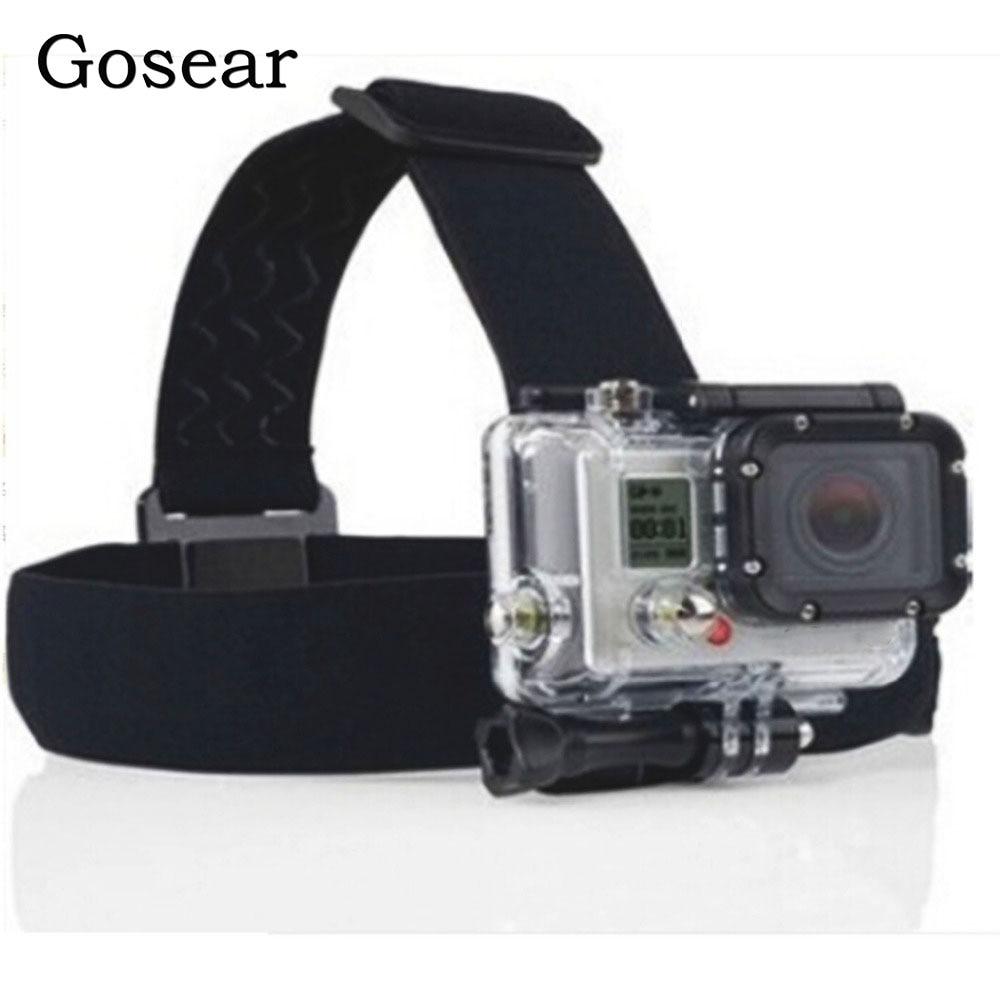 Gosear Head Strap Belt Band Holder Tripod Helmet Mount Bracket for Gopro Go Pro Hero 6 5 4 3 2 Xiaomi Xiomi Yi SJ4000 Eken H8