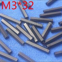 Intercalaire hexagonale en Nylon M3 * 32 noir 1 pièce   Espacement Hexagonal en Nylon de haute qualité pour femmes et femmes 32mm