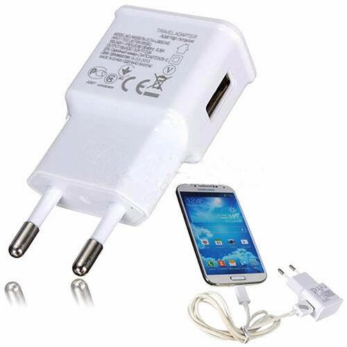 Enchufe de EE. UU. Portátil 1-Puerto USB 5V 2A cargador rápido teléfono cargador de pared adaptador de corriente
