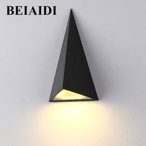 BEIAIDI IP65 Waterproof 9W Aluminum Triangle Led Wall Lamp Outdoor Garden Balcony Aisle Porch Patio Wall Sconce Lamps AC85-265V