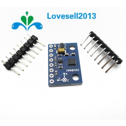 Módulo digital triaxial MMA8452Q MMA7361 acelerómetro precisión inclinación 3 ejes