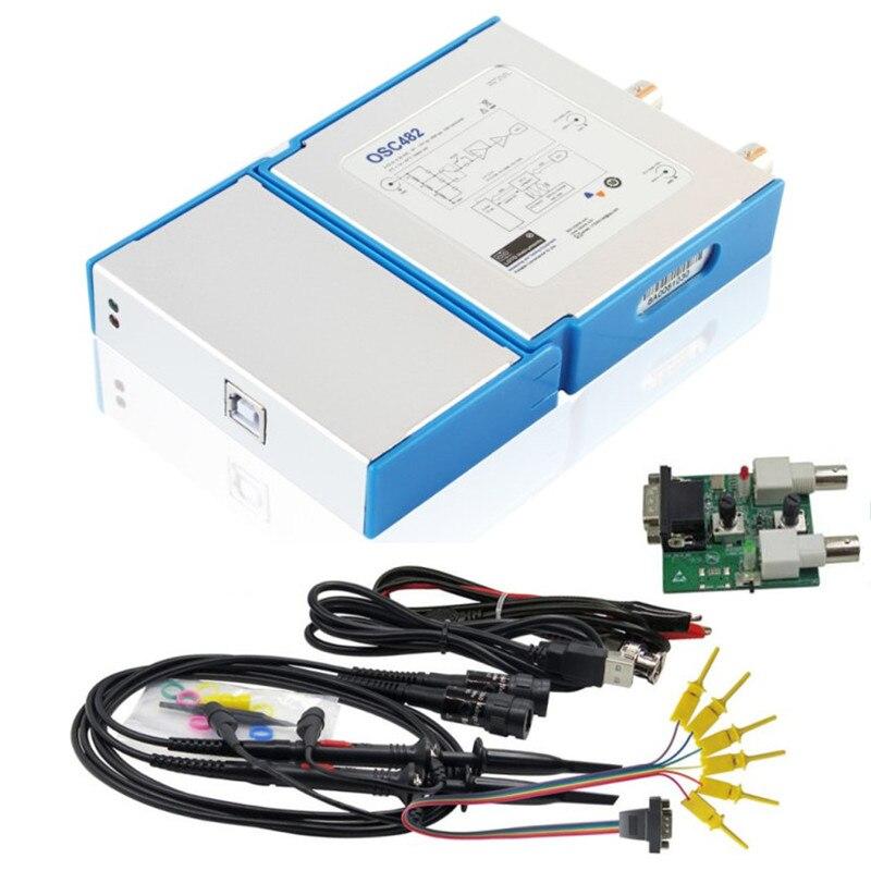 راسم الذبذبات الرقمي الافتراضي 3 في 1 ، جهاز USB ، 2CH ، عرض النطاق الترددي 20 م ، 50msa/s 13MHz ، مولد إشارة 4CH ، محلل المنطق