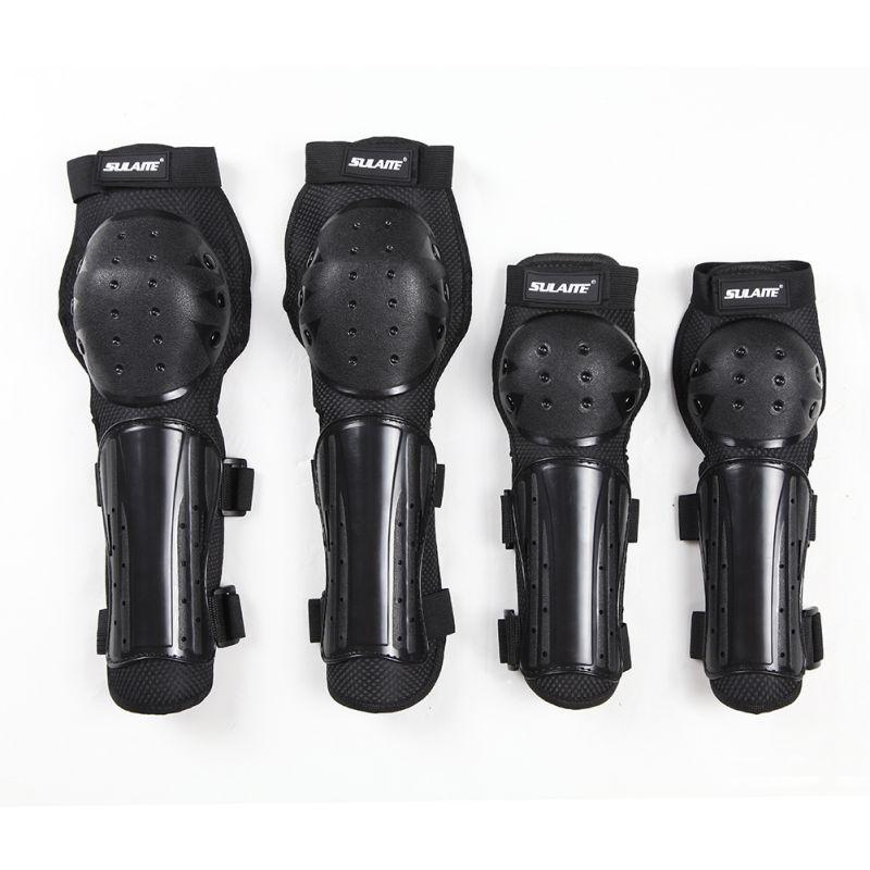 4pcs Waterproof Motorcycle Bicycle Racing Knee Pads Protective Guards Armor Gear PE Skateboarding Protector Set Elbow Knee Arm