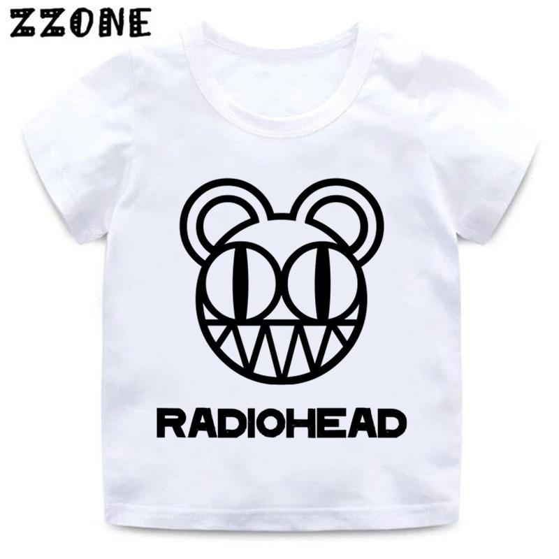 Niños Radiohead Band Rock And Roll camiseta niño y niña Arctic Monkeys ropa divertida niños verano Camiseta de manga corta, ooo654