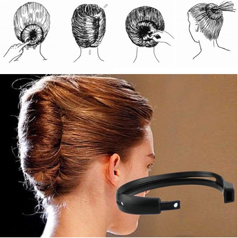 1PC  DIY Hair Styling Donut Bun Clip Tool New Fashion Convenient Womens French Twist Maker Holder Hair Sticks Beauty Tools