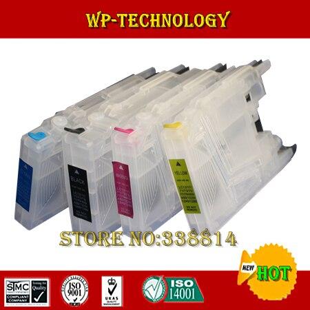 Terno cartucho Refil vazio para LC73 LC71 LC75 LC77 LC79 LC1240 LC1280, terno para Brother MFC-J6510DW J6710 J6910DW, etc