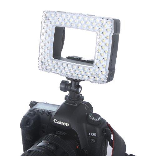 NanGuang CN-16 lámpara de vídeo LED para Flash Speedlite cámara de vídeo videocámara 6,2 W 710LM con atenuador 5400 K/3200 K