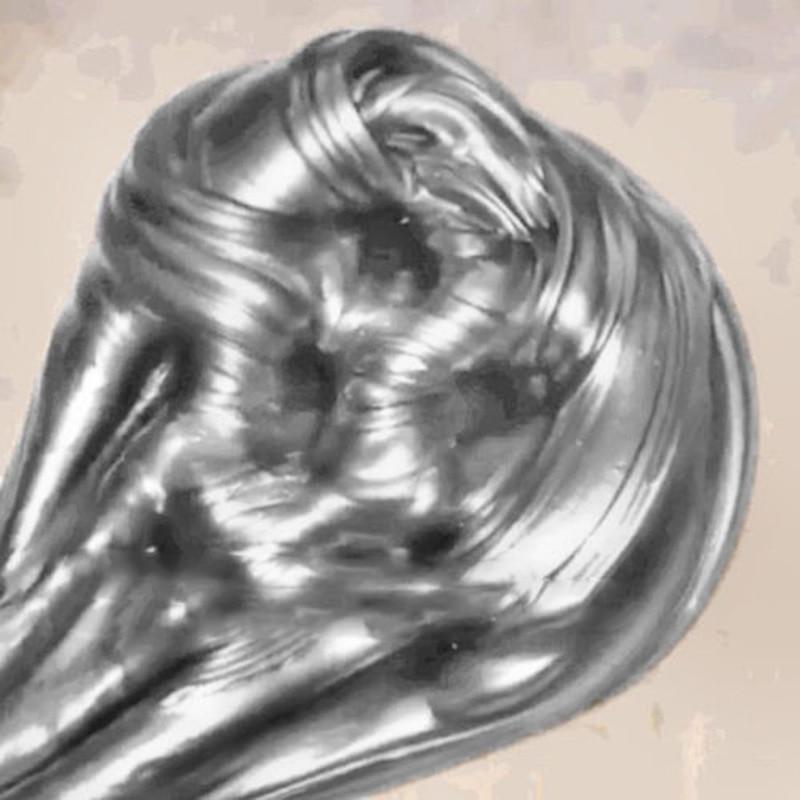 Plastilina plateada Slime Fluffy Floam Slime perfumado alivio del estrés juguete descompresión barro sin bórax niños regalo antiestrés Slime 60ml