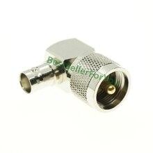 Прямоугольный штекер UHF PL-259 PL259 штекер BNC Женский 90 градусов L Тип адаптера