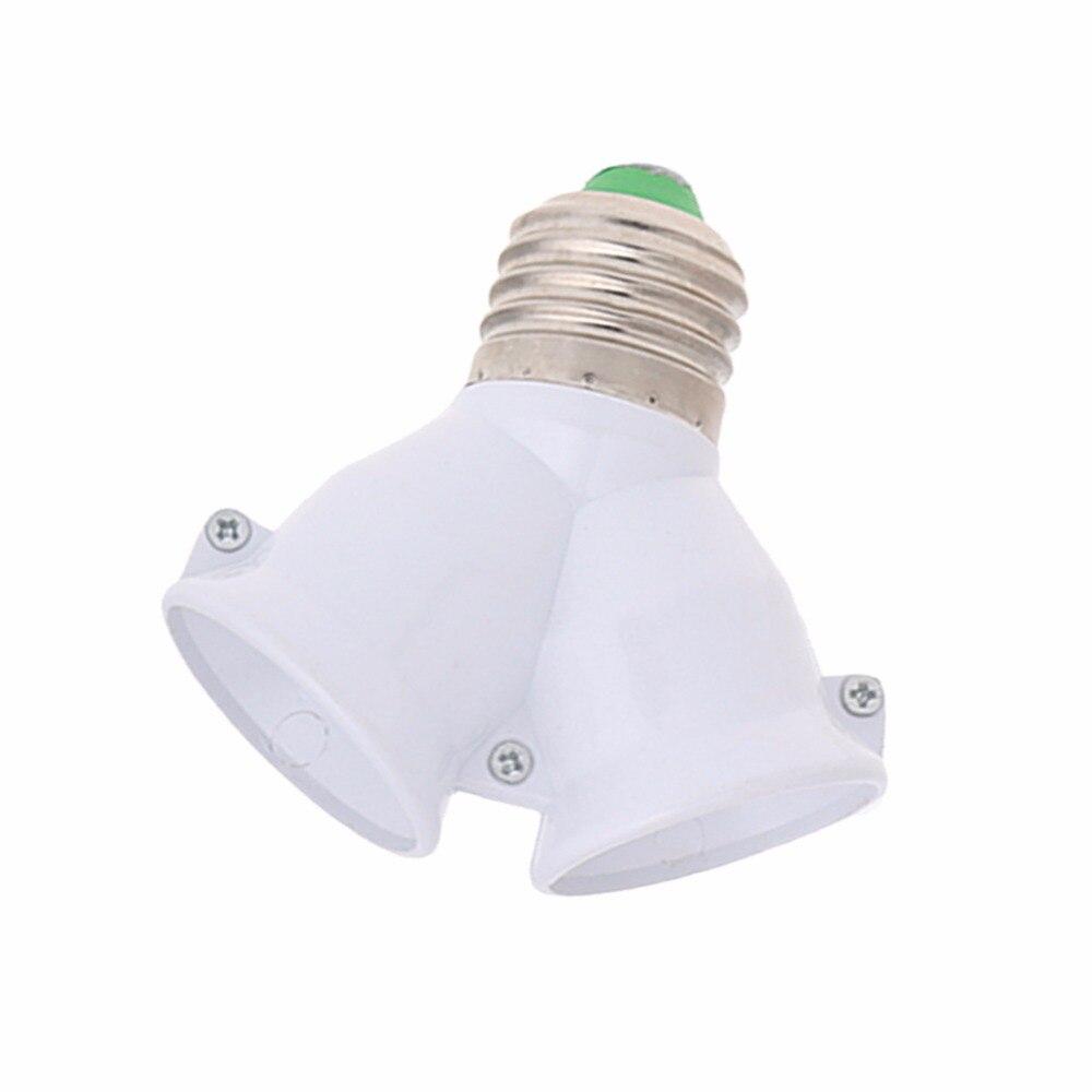 Adaptador adaptador extensor E27 a doble E27 Base bombilla LED para lámpara