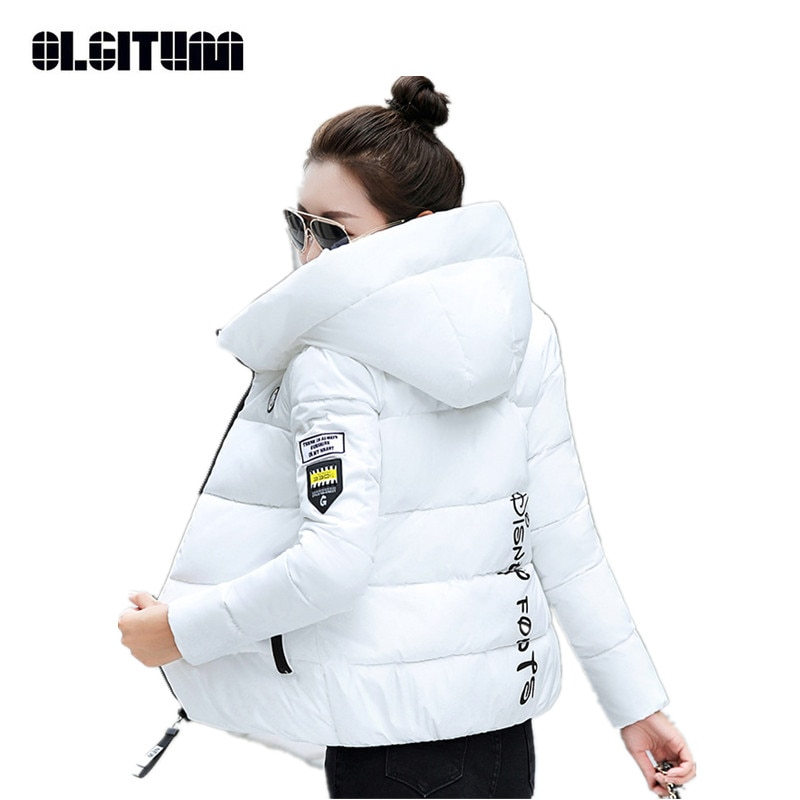 New Winter Parkas Women 2020 Hooded Thick Warm Short Outerwear Female Slim Cotton Padded Basic Tops