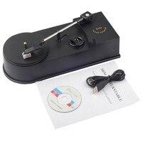 USB Portable Mini Vinyl Turntables Player Vinyl Turntable to MP3/WAV/CD Converter Mini Phonograph Turntable Record EC008-1