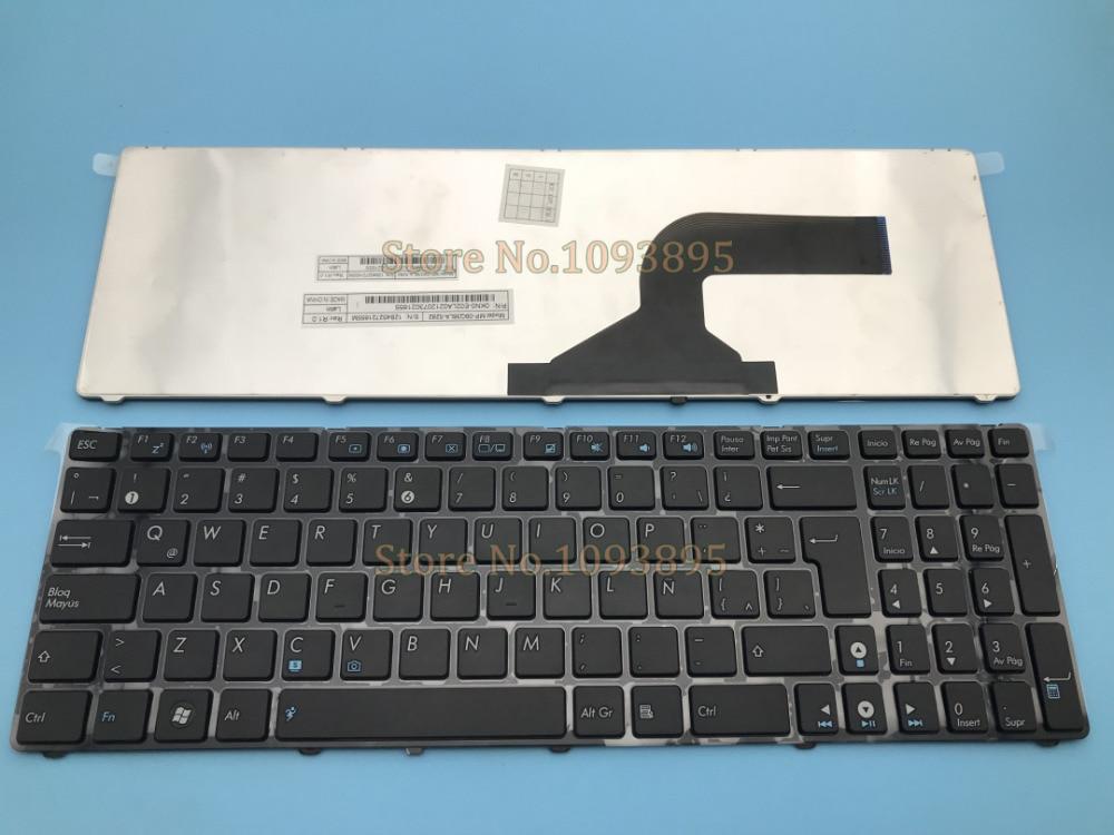 NOVO teclado Latina Espanhol Para ASUS A52 A52F A52J A52JC A52JB A52JE P52F P52JC P53 P53E P53SJ P53E Laptop Latina teclado