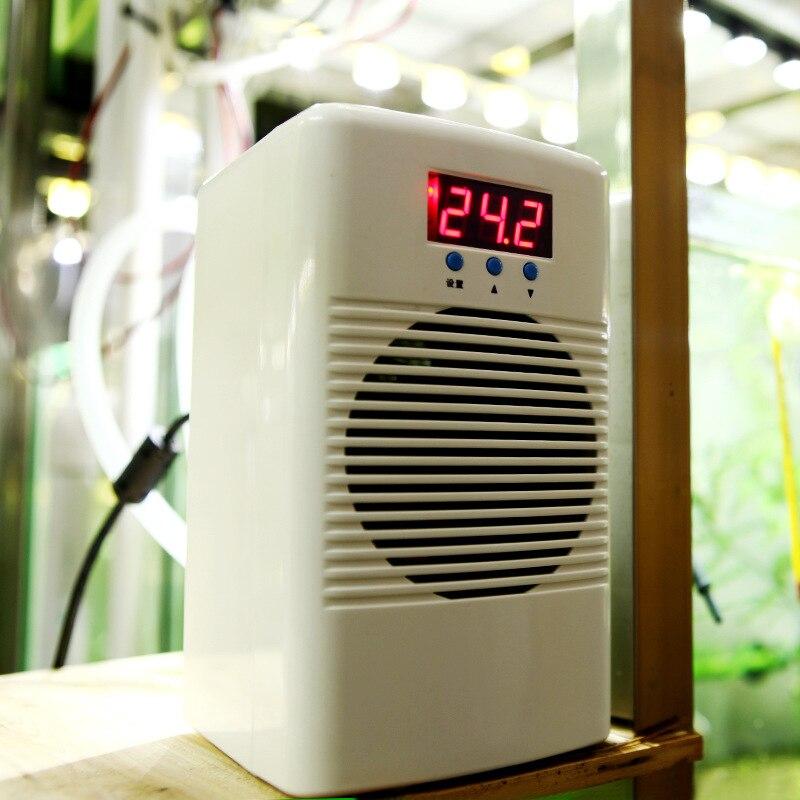 Refrigerador de agua de acuario de 100w 110-240 v/enfriador de temperatura del agua acondicionador tanque de peces arrecife de Coral tanque de camarones por debajo de 30 l