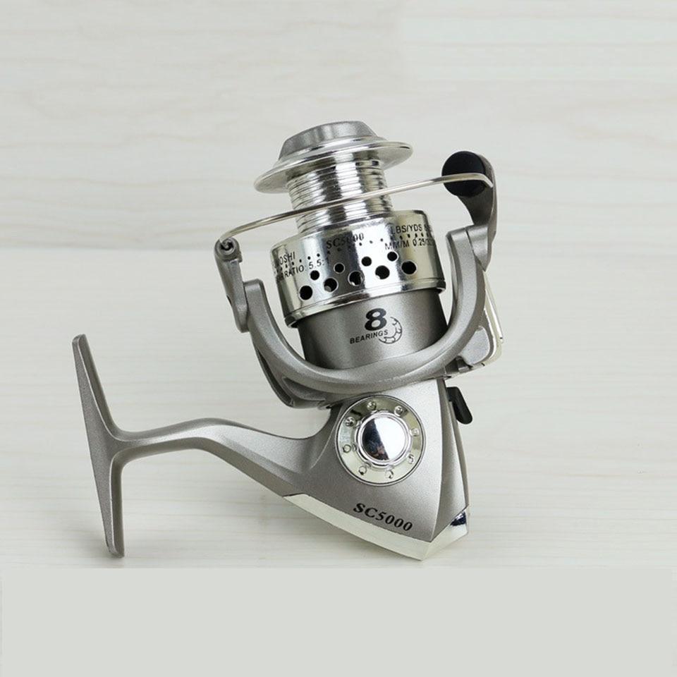 8BB  1000-7000 Series Fishing Reels Plastic Base Spincast Reel In Disount Fishing Spinning Reel Large Long Shot Wheel SC
