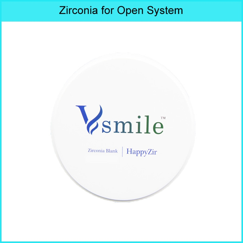 Vsmile Dental blanco circona ST 98mm con 16 tonos vita 16 de color para la corona completa ROLAND VHF... yenadenIMESICORE de Ron WIELAND sistema