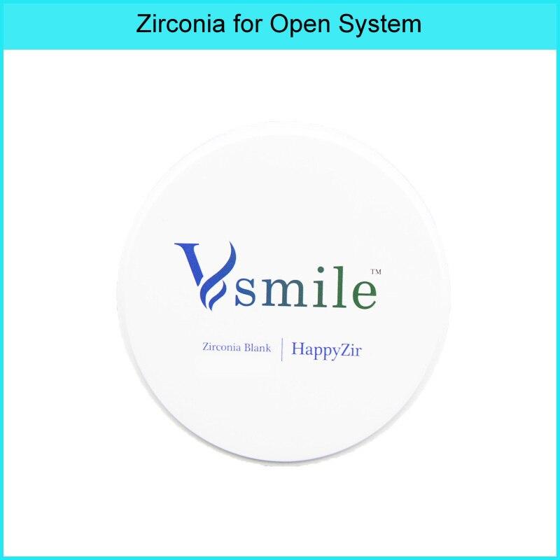 Vsmile zirconia block UT shaded preshaded and colored Dental Zirconia Blocks Pre Sintered for roland/VHF/IMES icoresystem System