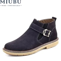miubu 2020 men ankle boots high quality genuine leather men boots warm outdoor men chelsea boots fashion men winter shoes 38 46