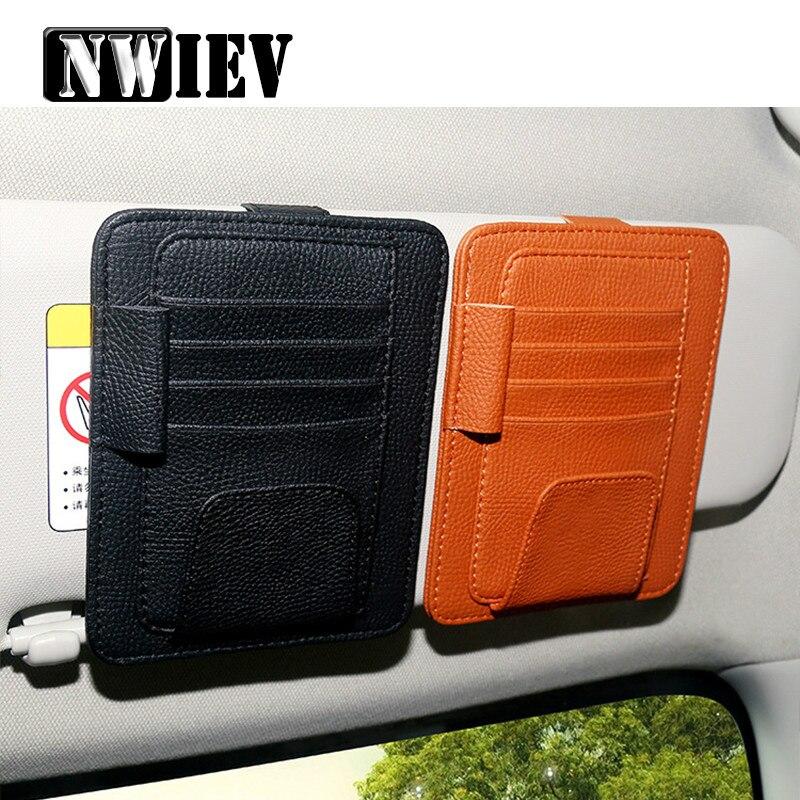 NWIEV parasol para coche organizador de bolsa de almacenamiento para VW Polo Golf 4 5 7 6 Passat B6 Citroen c4 c5 Hyundai Tucson Solaris Ix35
