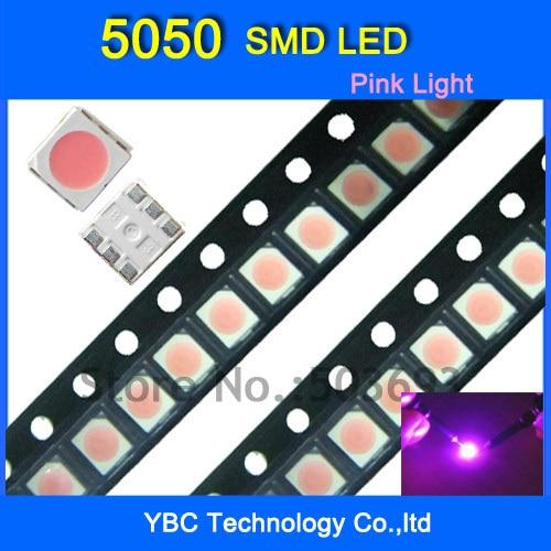 5050 SMD LED 1000pcs/lot  Ultra Bright Pink Diode Light Wholesale
