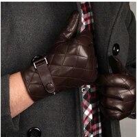 2018 new arrival winter sheepskin men gloves wrist solid real genuine leather fashion thermal glove plus velvet m020nc 5