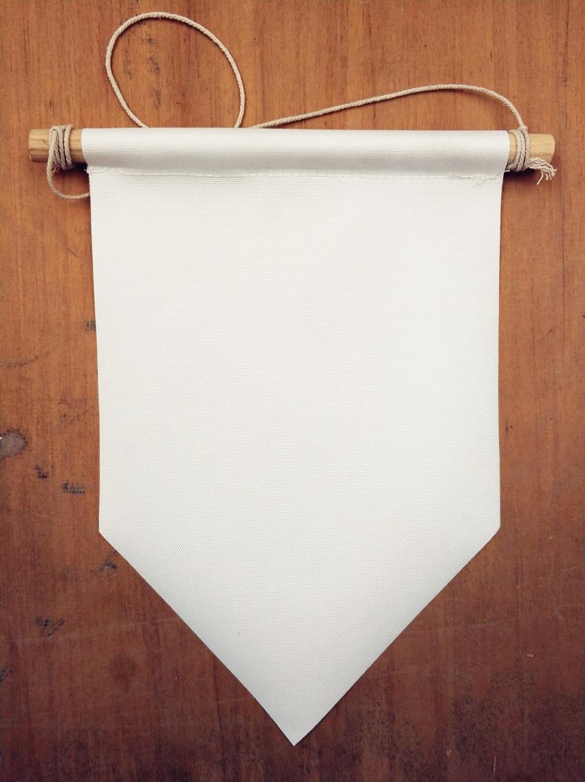 DIY party decor wall hanging Blank custom canvas Flag banner