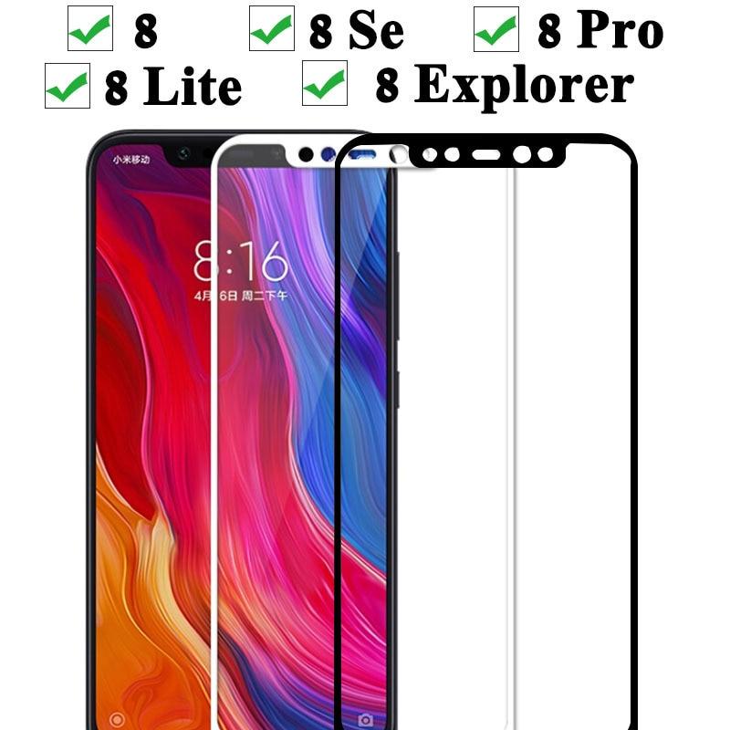 Protective Glass For Xiaomi Mi 8 Se Pro Lite Explorer Tempered Glas Case On Ksiomi Xiomi Xiami Xaomi