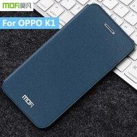 For OPPO K1 Original MOFi Rui Series Luxury Flip Leather Matte Back Protective Phone Cover Case For OPPO K1 Back Case