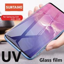 Suntaiho Nano UV жидкое закаленное стекло с полным клеем для Samsung Galaxy S10 Plus S9 plus, Защитное стекло для экрана Note9