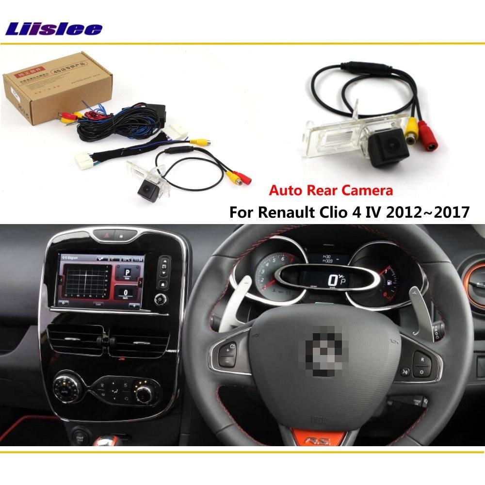 Car Reverse Rear View Camera For Renault Clio 4 MK3 MK4 2012-2018 Accessories Connect Original Factory Screen HD CCD CAM